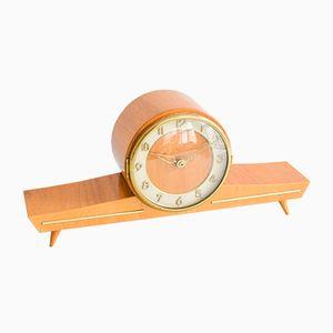 Mid-Century Wooden Mantel Clock