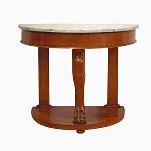 Empire Style Alder Console with Marble Top, 1860s