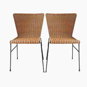 Deutscher Geflochtener Stuhl, 1960er, 2er Set