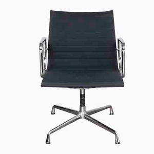 Vintage EA108 Chromed Office Chair by Charles and Ray Eames for Vitra