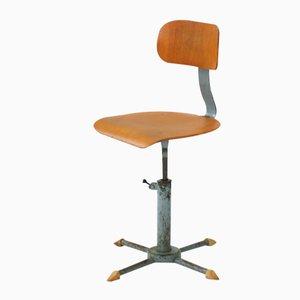 Industrieller Höhenverstellbarer Vintage Stuhl