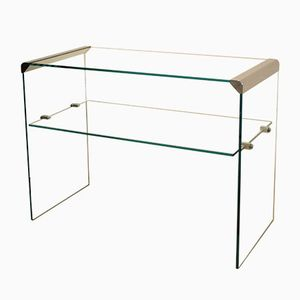 Glass Console Table from Galotti & Radice, 1980s