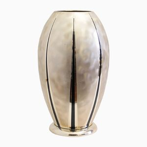 Vintage Ikora Silver-Plated Metal Vase from WMF