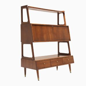 Mid-Century Walnut Bookcase from Saginaw