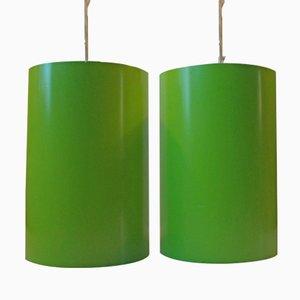 Zylindrische Hängelampen von Eila & John Meiling für Louis Poulsen, 1970er, 2er Set