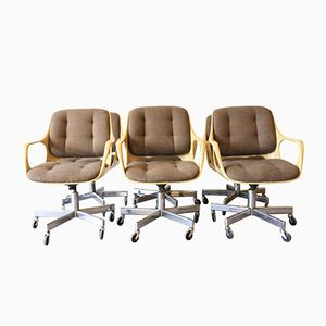 Chaises de Bureau Vintage Space Age de Chromcraft, Set de 6