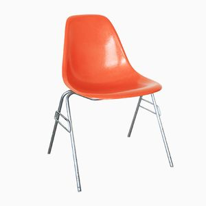 Vintage Orange Shell Chair by Charles & Ray Eames for Herman Miller