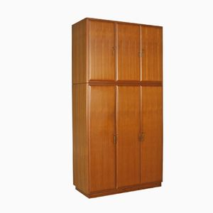 Vintage Teak and Brass Wardrobe, 1960s