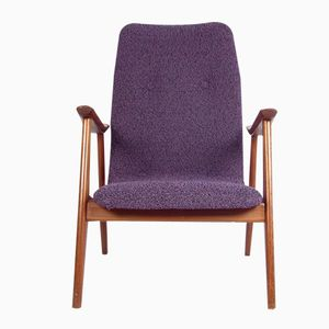 Vintage Purple Lounge Chair by Louis van Teeffelen for Wébé