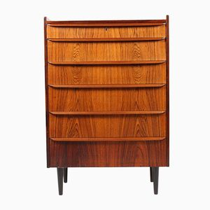 Danish Rosewood Chest with Six Drawers, 1950s