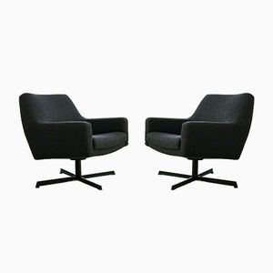 Swivel Lounge Chairs by Dieter Wäckerlin, 1960s, Set of 2