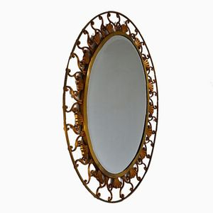 Vintage Italian Bronze Mirror from Moderna