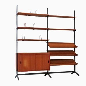 Mid-Century Teak Wall Unit by Olof Pira for String