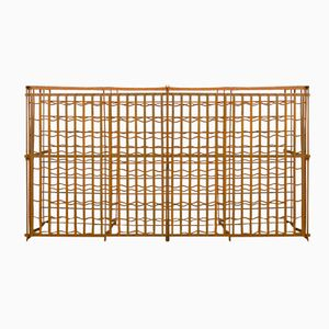 Large Wrought Iron Wine Rack, 1950s