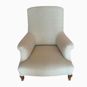 Vintage French Beige Armchair