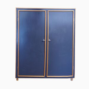 Vintage Wardrobe in Pavatex with Extendible Clothes Rack by Willy Guhl
