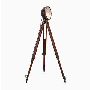 Vintage Industrial Floor Lamp with Tripod