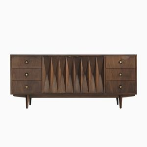 Diamond Front Credenza from American of Martinsville, 1960s