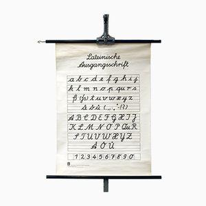 German School Wall Chart Latin Script