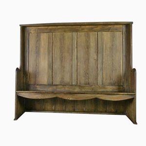 Vintage Sitzbank mit Hoher Rückenlehne