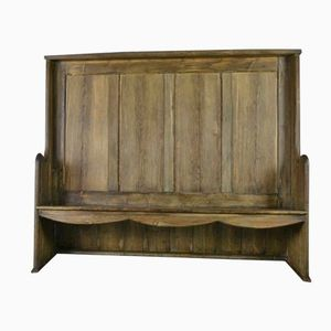 Vintage Tavern Style High Back Settle
