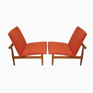 Mid-Century Japan Stühle von Finn Juhl für France & Daverkosen, 2er Set