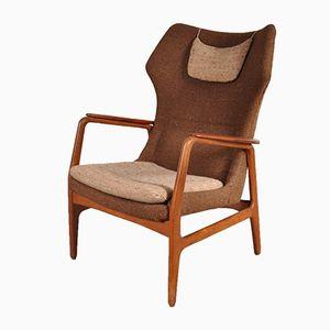 Easy Chair à Haut Dossier par Aksel Bender Madsen pour Bovenkamp, 1950s