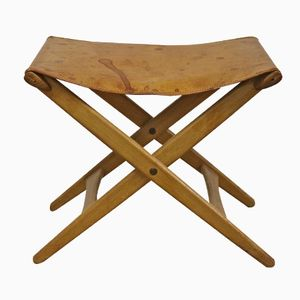 Swedish Folding Stool by Uno & Östen Kristiansson for Luxus, 1950s