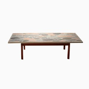 Large Stone and Brass Table by Torbjörn Afdal, 1960s