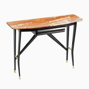 Italian Ebonized Wood Console