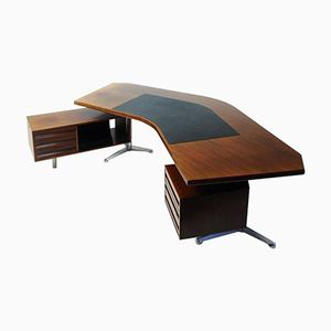Vintage Model T96 Rosewood Desk by Osvaldo Borsani for Tecno