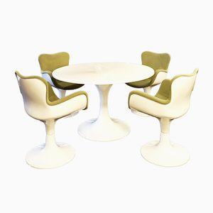 Table et Chaises Trèfle par Christian Adam pour Airborne, 1970s
