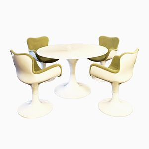 Trèfle Dining Table and Chairs by Christian Adam for Airborne, 1970s