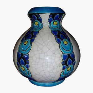 Keramik Vase von Boch Frères, 1925
