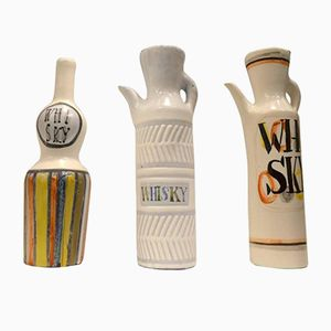 Mid-Century Keramik Krüge von Roger Capron, 3er Set