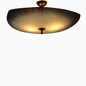Mid-Century Flying Saucer Ceiling Lamp, 1950s