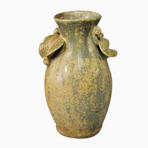 Petit Vase en Céramique aux Couleurs Marrons par Arne Bang, 1960s