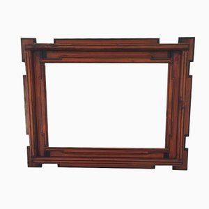 Vintage Hand-Crafted Wooden Frame by Giacomo Balla for Galleria Franca Mancini