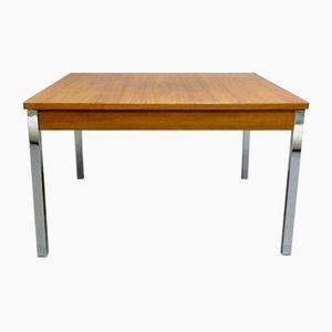 Scandinavian Low Square Coffee Table, 1950s