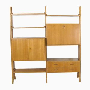 Scandinavian Modular Wall Unit, 1950s