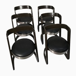 Vintage Dining Chairs by Willy Rizzo for Mario Sabot, 1970s, Set of 6