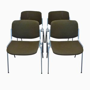Vintage Chairs by Giancarlo Piretti for Castelli, 1970s, Set of 4