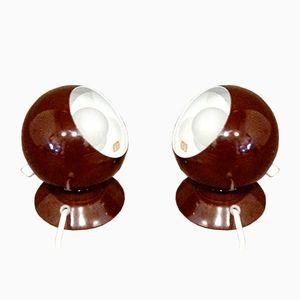 Scandinavian Brown Supply Lamps, 1970s, Set of 2
