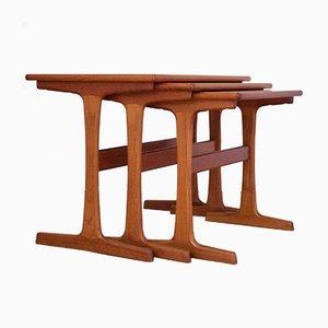 Mid-Century Nesting Tables by Kai Kristiansen for Vildbjerg Mobelfabrik