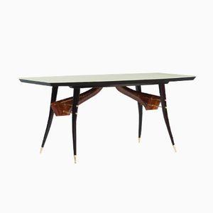 Vintage Italian Rosewood & Ebonized Wood Dining Table