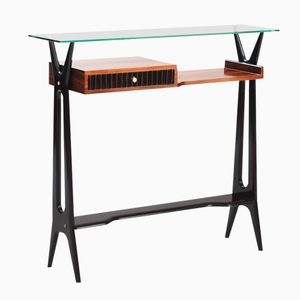 Vintage Italian Console with Glass Top