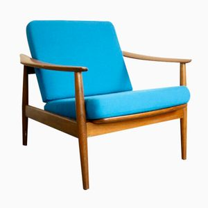 Mid-Century Danish Reclining Lounge Chair by Arne Vodder for Cado