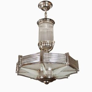 Octagonal French Chandelier from Petitot, 1930s