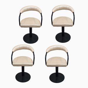 Swiveling Metal Bar Chairs, 1960s, Set of 4
