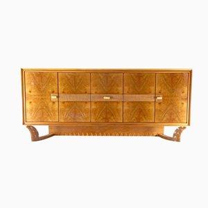 Walnut and Oak Sideboard by Osvaldo Borsani, 1940s